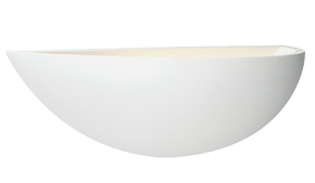 Endon 'Mini Crescent' 1 Light Wall Light, White plaster - 10401