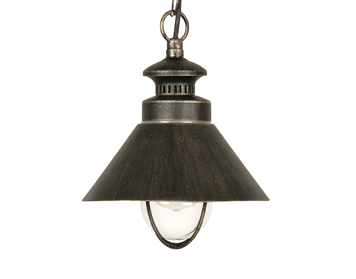 Oaks Lighting Weatherby 1 Light Ceiling Pendant Light, Black Brushed Gold - 105 CH BG