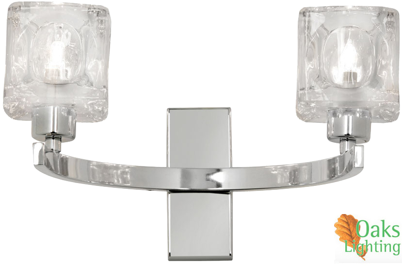 Oaks Lighting Tao Twin Wall Light, Polished Chrome - 1123/2 CH from Easy Lighting