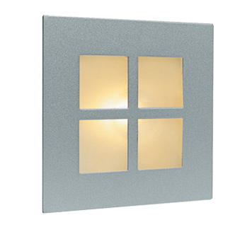 Firstlight Indoor Wall & Step Light, Satin Steel With Glass Cover - 1130SS