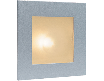 Firstlight Indoor Wall & Step Light, Satin Steel With Glass Cover - 1131SS