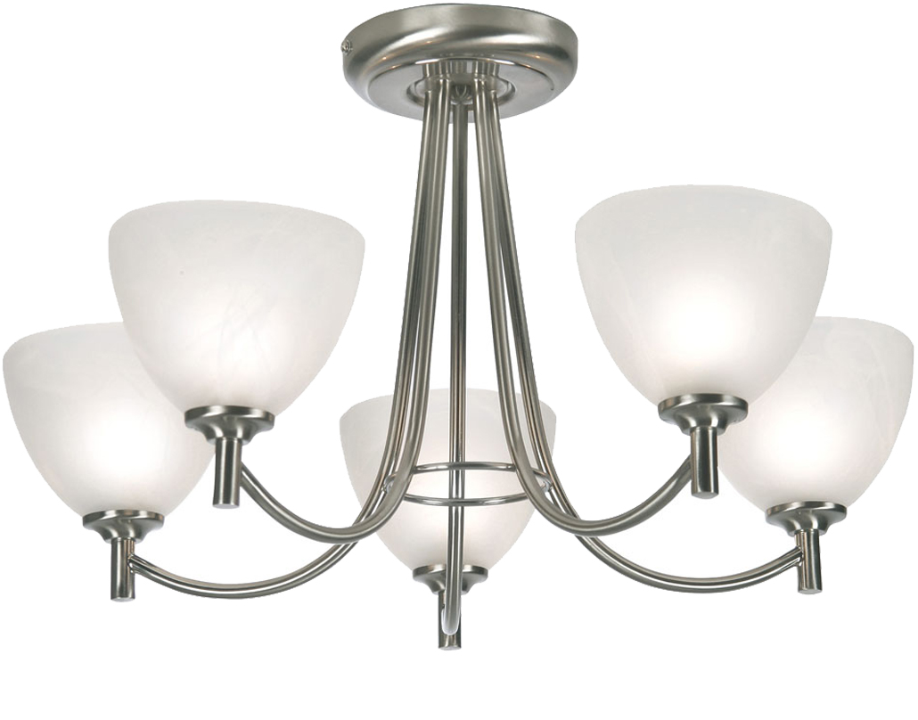 5 bulb ceiling light zuhause image idee 4 and 5 light semi flush ceiling lights from easy lighting aloadofball Image collections