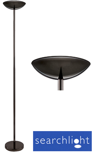 Searchlight halogen uplighter floor lamp black chrome for Cheap uplighter floor lamp