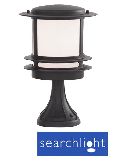 Searchlight Exterior Pedestal Light IP44 Black 1264 From Easy Lighting