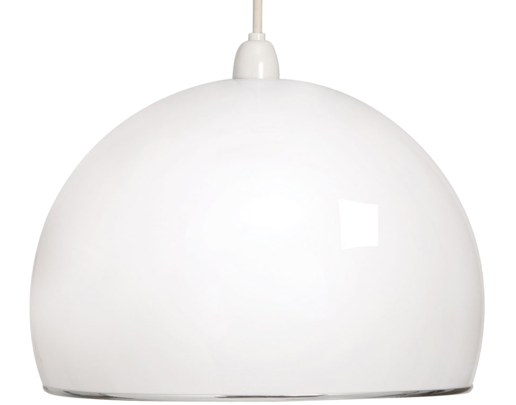 Oaks Lighting Retro Small Non-Electric Ceiling Pendant, White - 1320 S WH
