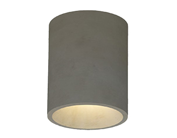 Astro Kos Round Outdoor Ceiling Light, Concrete Finish - 1326014