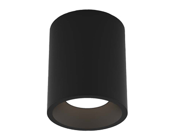 Astro Kos Round 140 LED Outdoor Ceiling Light, Textured Black Finish - 1326017