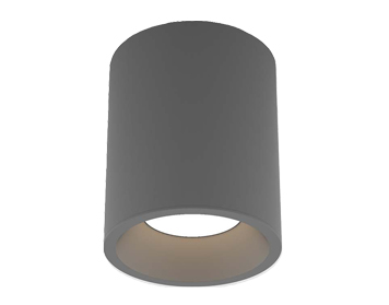 Astro Kos Round 140 LED Outdoor Ceiling Light, Textured Grey Finish - 1326018