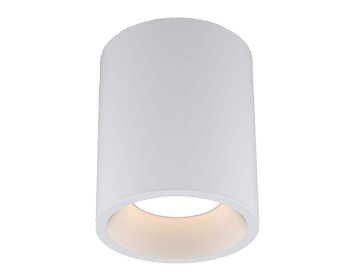 Astro Kos Round 140 LED Outdoor Ceiling Light, Textured White Finish - 1326019