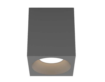 Astro Kos Square 140 LED Outdoor Ceiling Light, Textured Grey Finish - 1326021