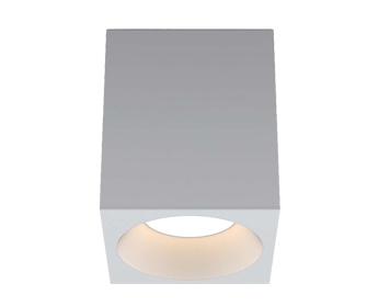 Astro Kos Square 140 LED Outdoor Ceiling Light, Textured White Finish - 1326022