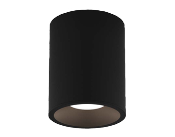 Astro Kos Round 100 LED Outdoor Ceiling Light, Textured Black Finish - 1326023