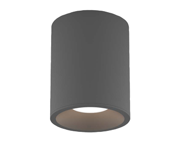 Astro Kos Round 100 LED Outdoor Ceiling Light, Textured Grey Finish - 1326024