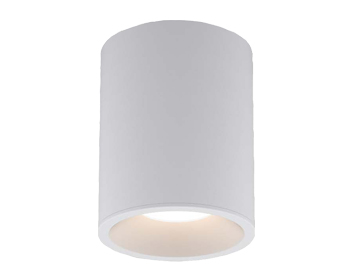 Astro Kos Round 100 LED Outdoor Ceiling Light, Textured White Finish - 1326025