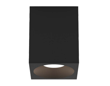 Astro Kos Square 100 LED Outdoor Ceiling Light, Textured Black Finish - 1326026