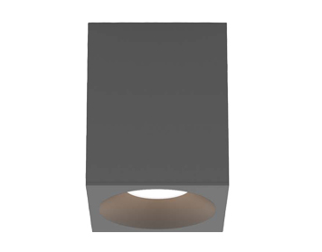 Astro Kos Square 100 LED Outdoor Ceiling Light, Textured Grey Finish - 1326027