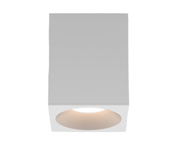 Astro Kos Square 100 LED Outdoor Ceiling Light, Textured White Finish - 1326028