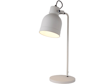 Searchlight Miami 1 Light Table Lamp, Sanded White Finish - 1341WH