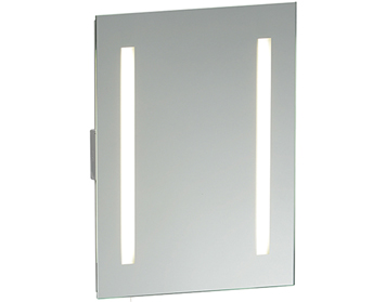 Endon Glimpse Shaver Mirror, Mirrored Glass & Matt Silver - 13885