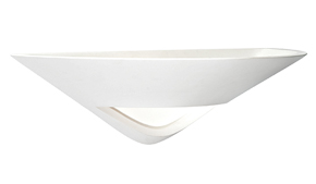 Endon 'Tico' 1 Light Wall Light, White Plaster & Frosted Glass - 14005