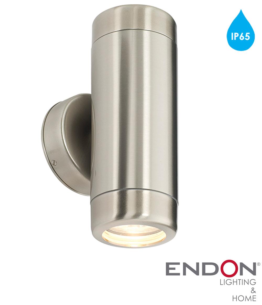 Endon 39 Atlantis 39 IP65 2 Light Outdoor Wall Light Marine Grade Brushe