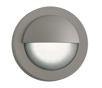 Searchlight IP44 LED Outdoor Bulkhead Wall Light, Grey With Frosted Glass  Diffuser   1402GY