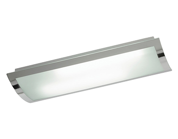 Endon Bay Rectangle Flush Ceiling Light, Chrome Plate Finish With Frosted Glass - 1405-67-PLCH