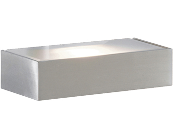 Searchlight Light Box Wall Light, Satin Silver Finish - 1417