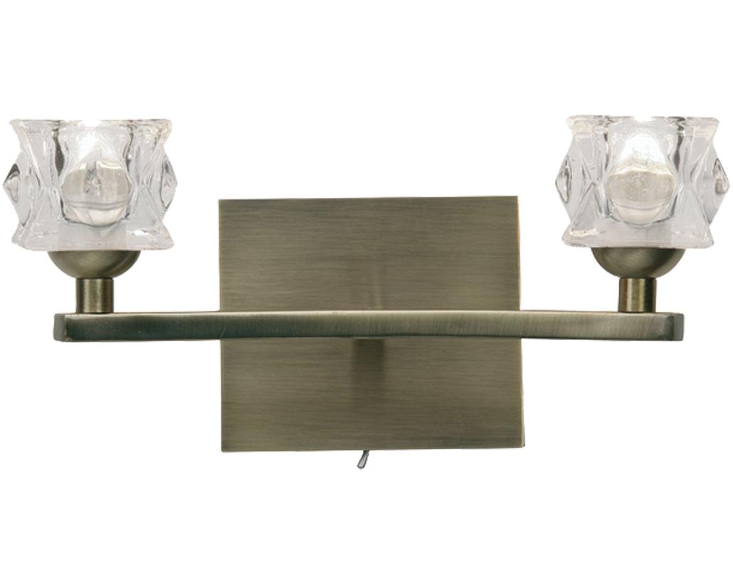Oaks Lighting Kane Double Wall Light, Mirror Black - 1450/2 MB from Easy Lighting