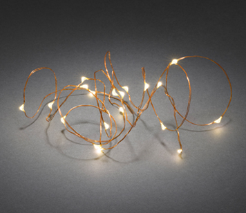 Konstsmide Warm White LED Christmas Lights On Copper Wire, Set Of 20 - 1460-160