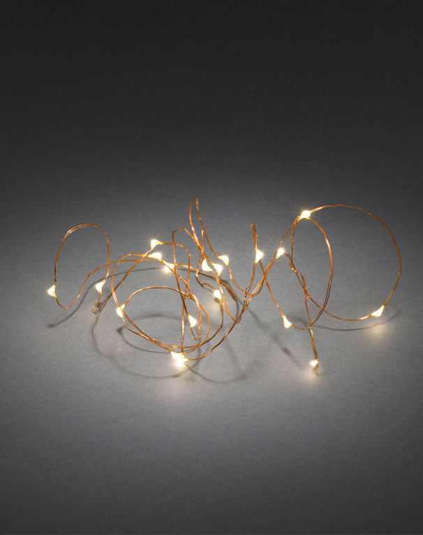 Konstsmide Warm White LED Christmas Lights On Copper Wire, Set Of 20 - 1460-160  None