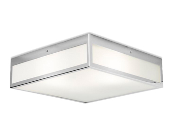Leds C4 Flow 300 3 Light Bathroom Ceiling Light, Chrome Finish With Tinted Glass Diffuser - 15-3213-21-B4
