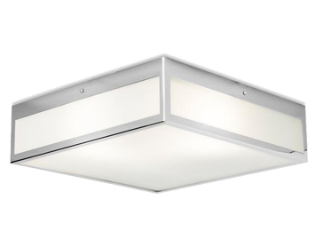 Leds C4 Flow 400 3 Light Bathroom Ceiling Light, Chrome Finish With Tinted Glass Diffuser - 15-3214-21-B4