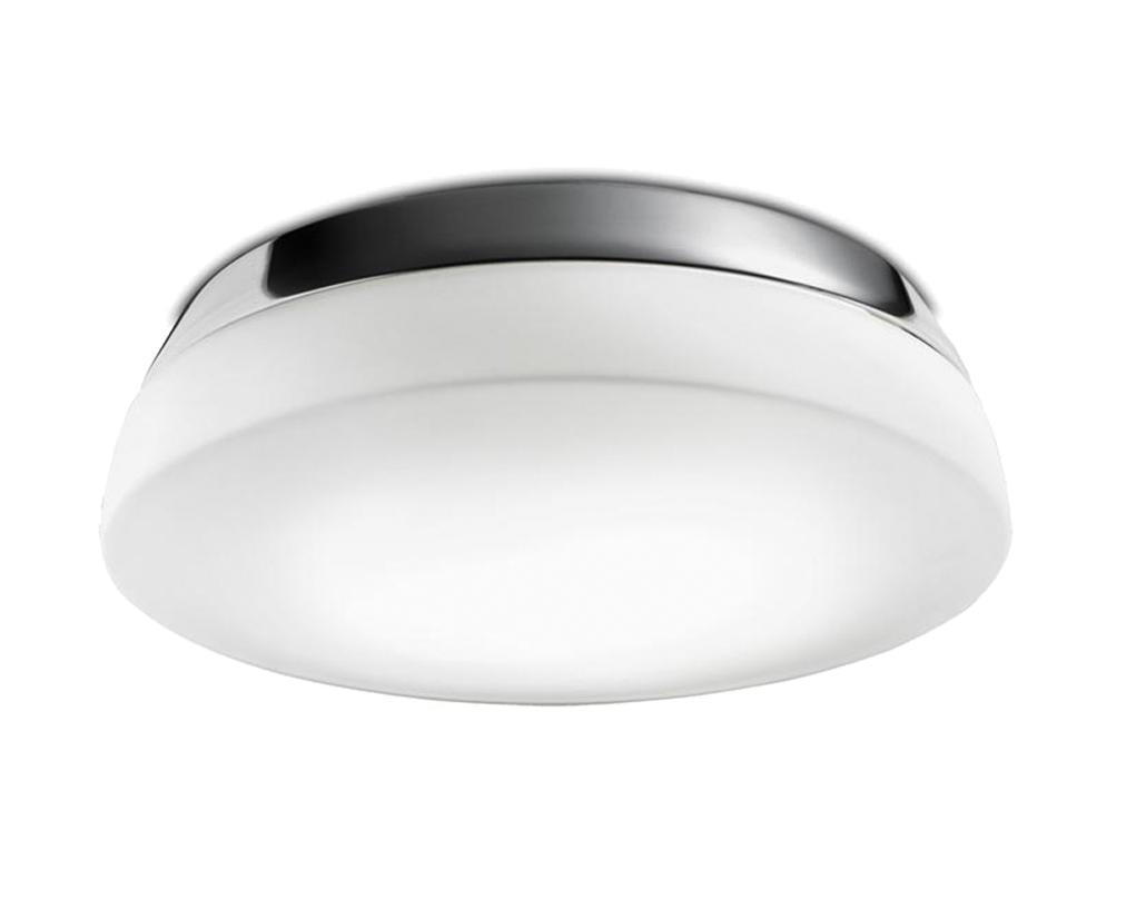 Modern Led Bathroom Ceiling Light Chrome Finish Ip44 Rated: Leds C4 'Dec' IP44 Bathroom Flush Ceiling/Wall Light