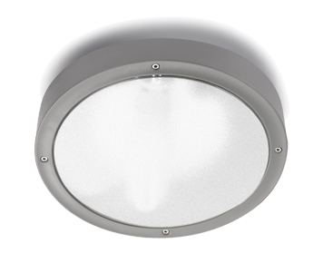 Leds C4 Basic Technopolymer Outdoor Ceiling Light (260mm), Grey Finish - 15-9491-34-CL