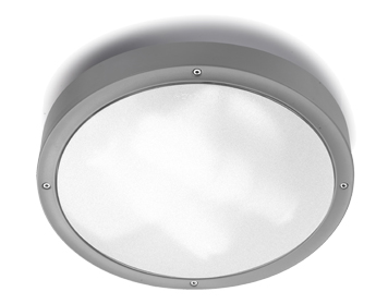 Leds C4 Basic Technopolymer Outdoor Ceiling Light (300mm), Grey Finish - 15-9493-34-CL