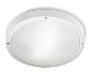 Leds C4 Opal Outdoor Ceiling Light, White Finish - 15-9677-14-CL