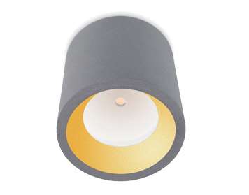 Leds C4 Cosmos Outdoor Ceiling Light, Grey Finish - 15-9790-34-CL