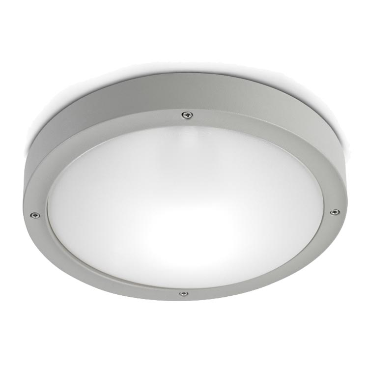 Delightful Leds C4 U0027Basic Aluminiumu0027 IP65 Outdoor Ceiling Light, Grey Finish   15