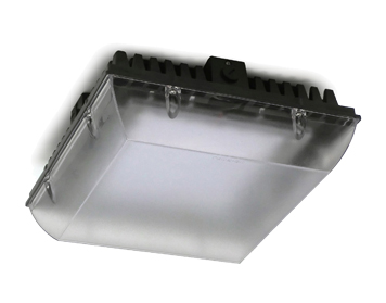 Leds C4 Premium Outdoor Ceiling Light, Grey With Glass Diffuser - 15-9839-05-CL