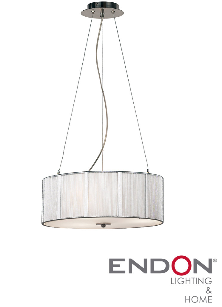 Pendant Light With Glass Diffuser : Endon string pendant with opal glass diffuser p