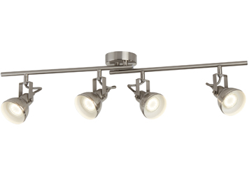 Searchlight Focus 4 Light Split Bar Spotlight, Satin Silver Finish - 1544SS