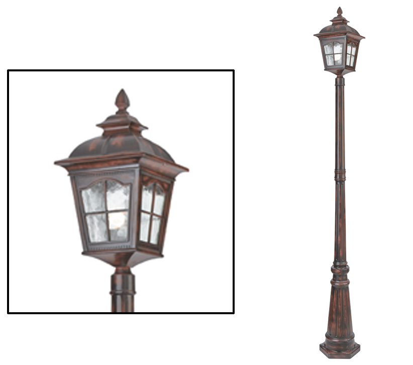 Searchlight pompeii 2120mm 1 light outdoor lamp post brown stone searchlight pompeii 2120mm 1 light outdoor lamp post brown stone finish 1574br aloadofball Choice Image