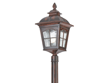 Searchlight Pompeii (2120mm) 1 Light Outdoor Lamp Post, Brown Stone Finish - 1574BR