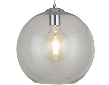 Searchlight Balls 1 Light Round Pendant Light, Chrome Finish With Clear Glass - 1632CL
