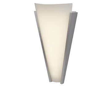 Searchlight LED Tapered Wall Light, Aluminium Finish With Frosted Glass Diffuser - 1675