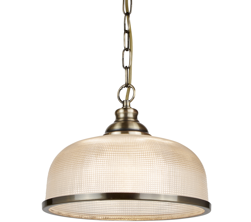 Searchlight Bistro Ii 1 Light Pendant Light Antique Brass