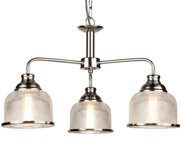 Silver ceiling lights from easy lighting searchlight bistro ii 3 light ceiling light satin silver finish with halophane glass shade aloadofball Gallery