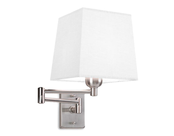 Leds C4 Dover Decorative Wall Light With Adjustable Arm, Satin Nickel Finish - 170-NS