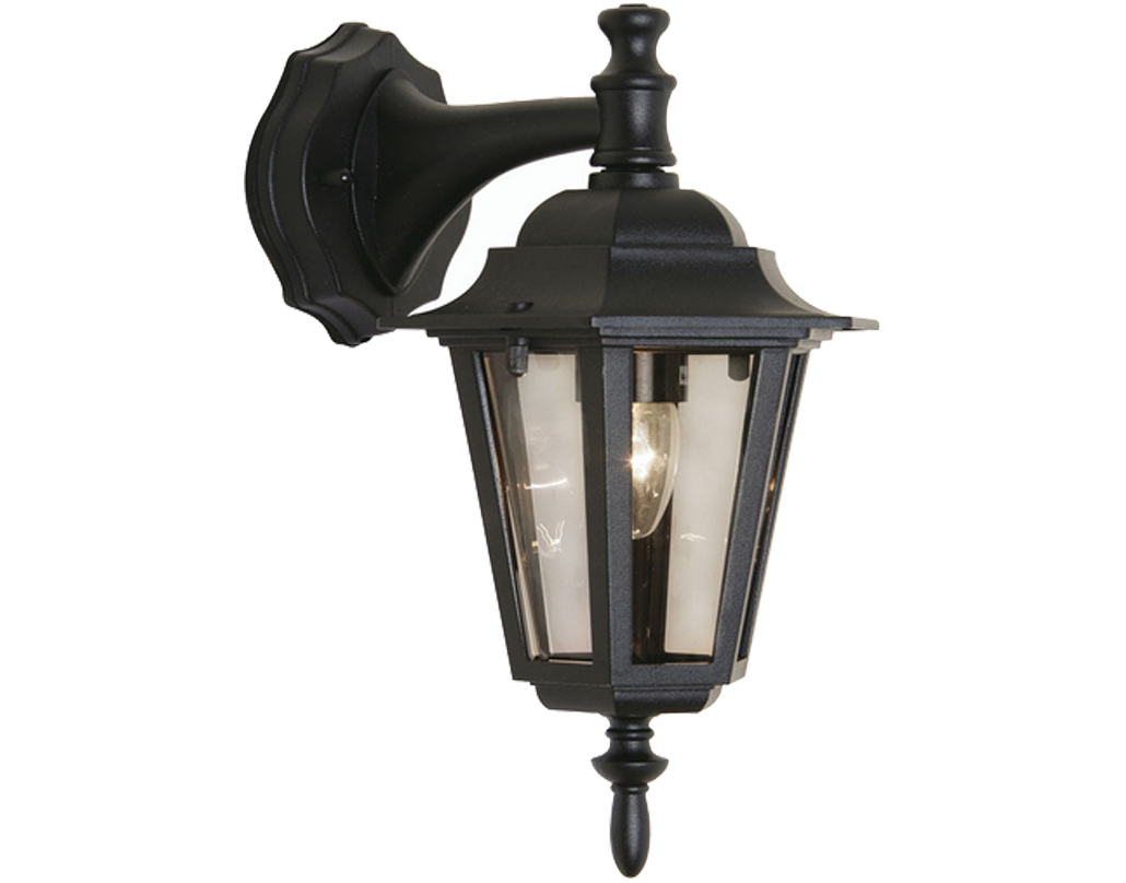 Oaks Lighting 'Haxby' IP44 Exterior Wall Lantern, Black - SALE-171 DN BK